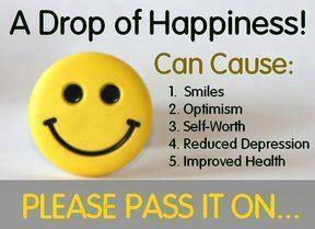 please share a drop of happiness for a healthy life
