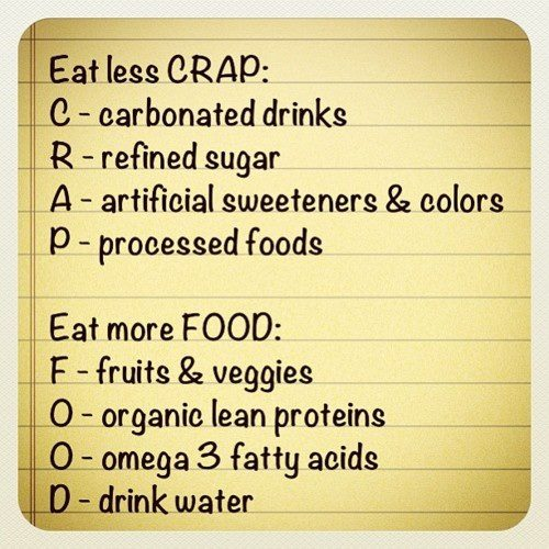 Eat good food avoid crap good morning health tips refined sugar