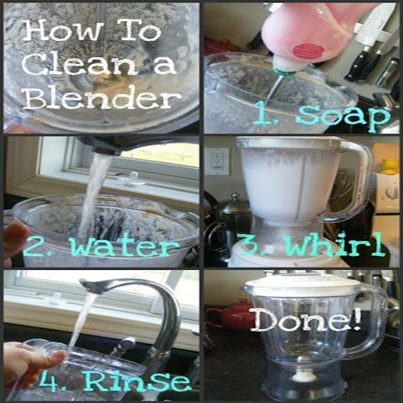 How to clean a blender,mixer,juicer,house hold item ,