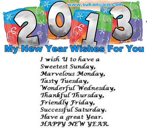 My New Year 2013 Wishes For You | Daily Inspirations for Healthy Living