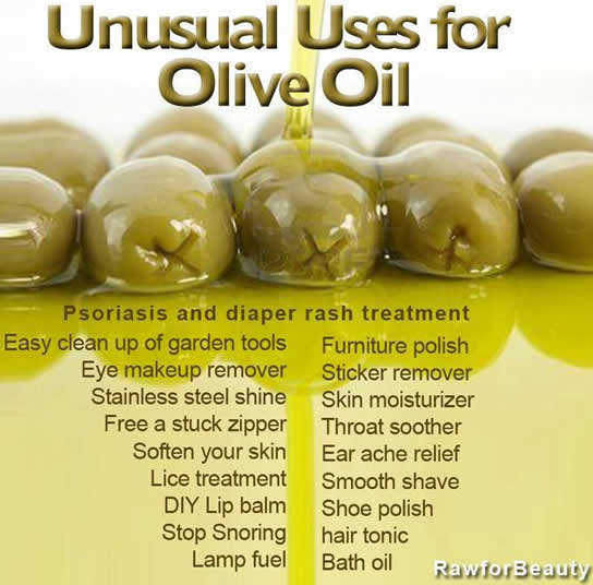 uses for olive oil ,beauty tips