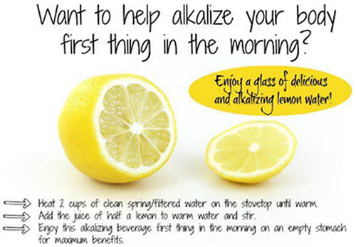 Alkalizing  lemon water,health tips