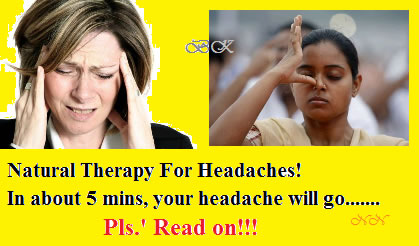 Natural therapy for headaches,home remedy