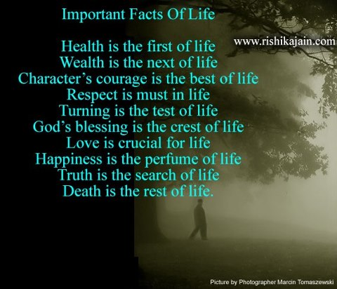 important facts of life daily inspirations for healthy
