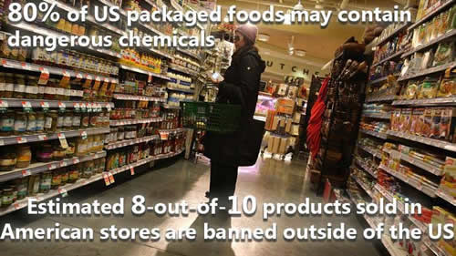 health tips, US packaged foods may contain dangerous chemicals