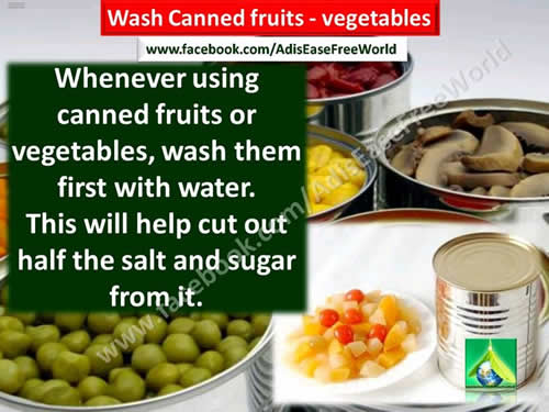canned fruits, vegetables,health tips