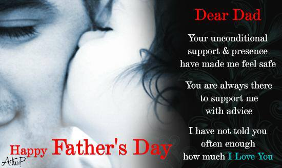 Happy Father Day ;Greeting card