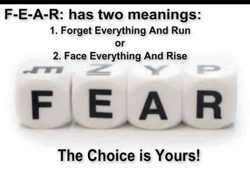 Inspirational Thought For The Day Fascinating Thought For The Dayfear Has Two Meanings  Daily Inspirations For
