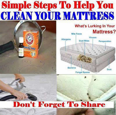 clean your mattress,