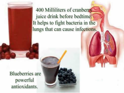 benefits of Blueberries , cranberry juices