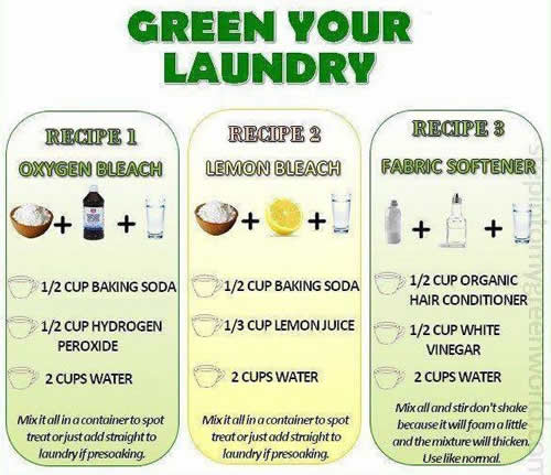 Green your Laundry ,tips ,bleach