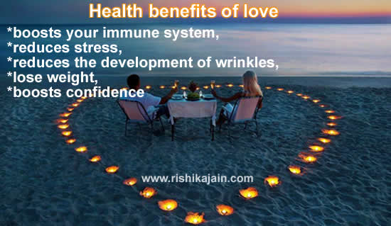 Health benefits of love ,beauty tips