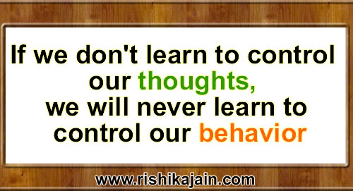 Thought Of The Day Motivational Extraordinary Thought For The Daycontrol Our Behavior Daily Inspirations For