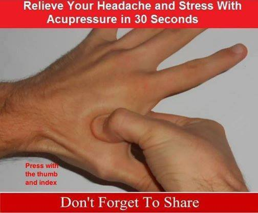 Headache and Stress With Acupressure