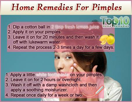Home remedies for pimples