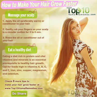 hair grow faster ,tips for hair