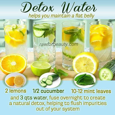 Detox Water Helps You Maintain A Flat Belly Daily Inspirations For Healthy Living