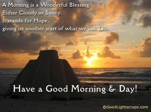 Morning Motivational Quotes Amazing A Morning Is A Wonderful Blessing  Daily Inspirations For Healthy