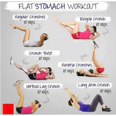 Flat stomach workout,health tips