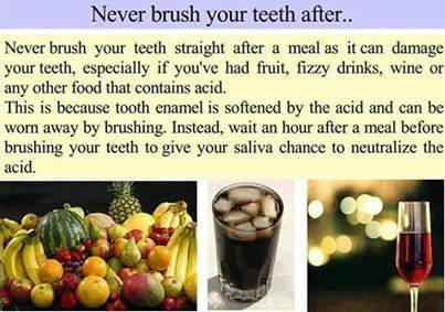 when and how to brush your teeth